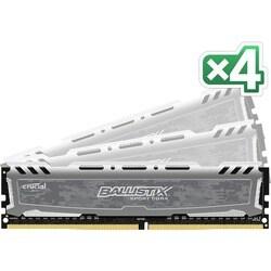 Crucial Ballistix Sport LT Gray 64GB Kit (4 x 16GB) DDR4-2400 UDIMM