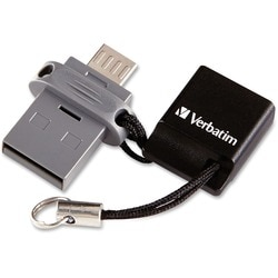 Verbatim 64GB Store 'n' Go Dual USB Flash Drive for OTG Devices - TAA
