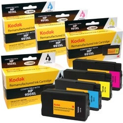 KODAK Remanufactured Ink Cartridge Combo Pack Compatible With HP 950X