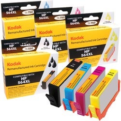KODAK Remanufactured Ink Cartridge Combo Pack Compatible With HP 564X