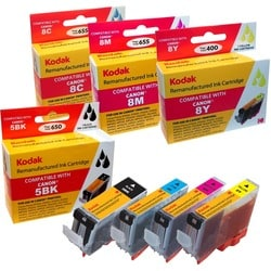 KODAK Remanufactured Ink Cartridge Combo Pack Compatible With Canon 5