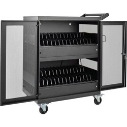 Tripp Lite 32-Port AC Charging Cart Storage Station Chromebook Laptop