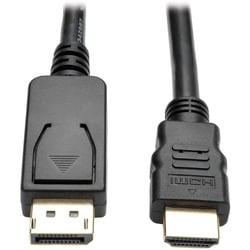 Tripp Lite 6ft DisplayPort to HDMI Adapter Converter Cable DP w/ Latc