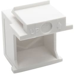 Tripp Lite Snap-In Blank Keystone Jack Insert, White, 10 Pack