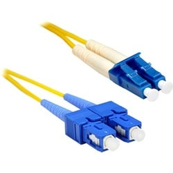 ENET SC to LC 30 meter OS1 9/125 Yellow Duplex Single-mode PVC Fiber