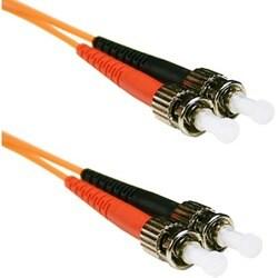ENET ST to ST 3 meter OM2 50/125 Orange Duplex Multimode PVC Fiber Op