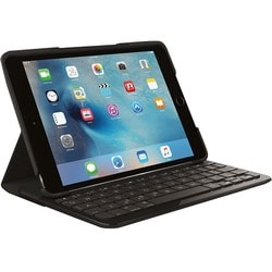 Logitech Focus Keyboard/Cover Case (Folio) for iPad mini 4 - Black