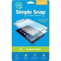 ReVamp Simple Snap Screen Protector (iPad Mini) (Tempered Glass) Tran