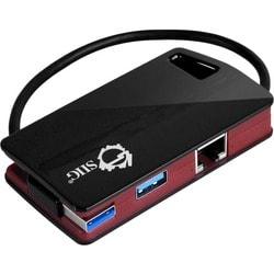 SIIG SuperSpeed USB 3.0 LAN Hub Red- Type-C Ready