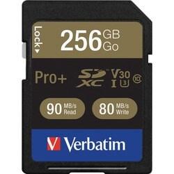 Verbatim Pro+ 256 GB SDXC - TAA Compliant