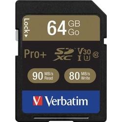 Verbatim Pro+ 64 GB SDXC - TAA Compliant