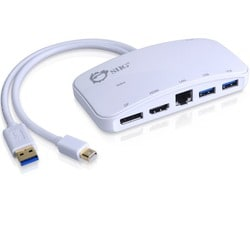 SIIG Mini-DP Video Dock with USB 3.0 LAN Hub - White