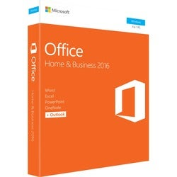 Microsoft Office 2016 Home & Business - 1 PC - Medialess