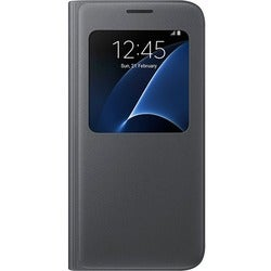 Samsung S-View Carrying Case (Flip) for Smartphone - Black