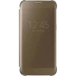 Samsung S-View Carrying Case (Flip) for Smartphone - Clear Gold