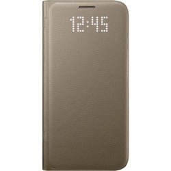 Samsung View Cover Carrying Case (Folio) for Smartphone - Gold