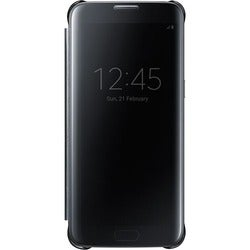 Samsung S-View Carrying Case (Flip) for Smartphone - Clear Black