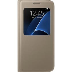 Samsung S-View Carrying Case (Flip) for Smartphone - Gold|https://ak1.ostkcdn.com/images/products/etilize/images/250/1033064147.jpg?impolicy=medium