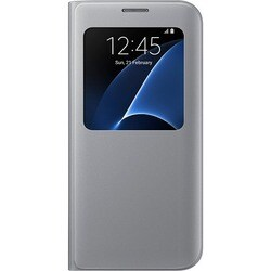 Samsung S-View Carrying Case (Flip) for Smartphone - Silver