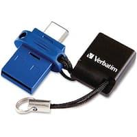 Verbatim 64GB Store 'n' Go Dual USB Flash Drive for USB-C Devices - B