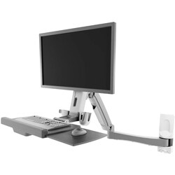Atdec Sit to Stand Wall Mounted Workstation - A-STSFB- Height Adjusta