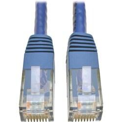 Tripp Lite Cat6 Gigabit Molded Patch Cable (RJ45 M/M), Blue, 14 ft