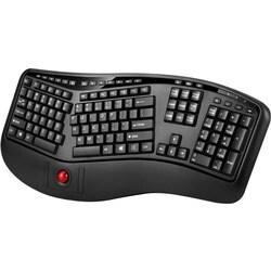 Adesso Tru-Form 3500 - 2.4GHz Wireless Ergonomic Trackball Keyboard