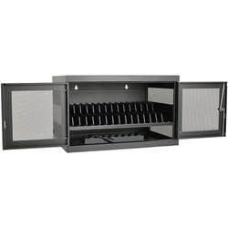 Tripp Lite 16-Port AC Charging Cart Storage Station Chromebook Laptop