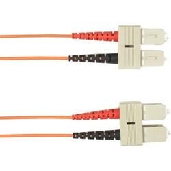 Black Box 25-m, SC-SC, 50-Micron, Multimode, Plenum, Orange Fiber Opt