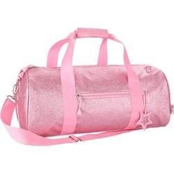 Bixbee Sparklicious Kids Glitter Large Duffle Bag - Pink