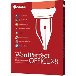 Corel WordPerfect Office v.X8 Professional Edition - Box Pack - 1 Use