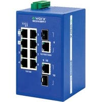 B+B 8-port 10/100Mbps + 2-port GbE Combo Monitored Ethernet Switch
