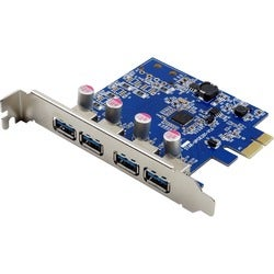 Visiontek Four Port USB 3.0 x1 PCIe Internal Card for PCs and Servers