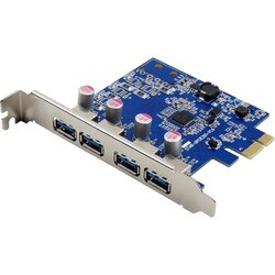 Visiontek Four Port USB 3.0 x1 PCIe Internal Card for PCs and Servers