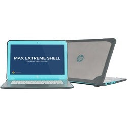 """Max Cases HP Extreme Shell for 14"""" Chromebook Generation 3/4 (Grey)"""