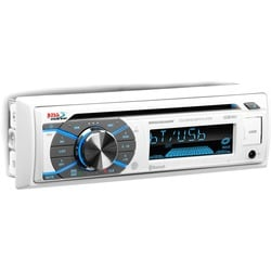 BOSS AUDIO MR508UABW Marine Single-DIN CD Player, Receiver, Bluetooth