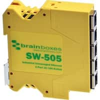 Brainboxes Industrial Compact Ethernet 5 Port Switch DIN Rail Mountab