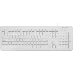 Macally 104 Key Wired USB Keyboard for Mac and PC