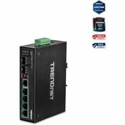TRENDnet 6-Port Hardened Industrial Gigabit PoE+ Layer 2 Managed DIN-