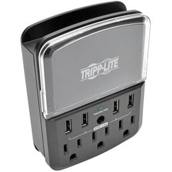 Tripp Lite 4-Port Wallmount USB Charging Station w 3 Outlet Surge Pro