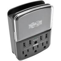 Tripp Lite 4-Port Wallmount USB Charging Station w 3 Outlet Surge Pro
