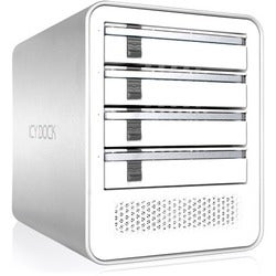 Icy Dock MB561U3S-4S R1 Drive Enclosure External - White, Silver
