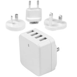 StarTech.com 4-Port USB Wall Charger - International Travel Charger -