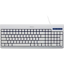 Verbatim White USB Corded Keyboard