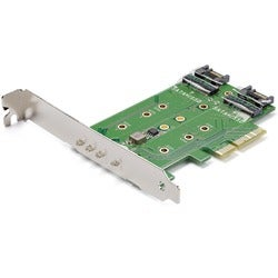 StarTech.com 3-Port M.2 SSD (NGFF) Adapter Card - 1 x PCIe (NVMe) M.2
