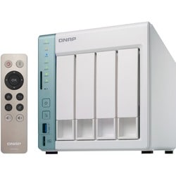 QNAP Dual-core NAS featuring direct file transfer and access via USB