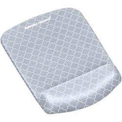 Fellowes PlushTouch™ Mouse Pad Wrist Rest - Gray Lattice