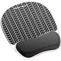 Fellowes Photo Gel Mouse Pad Wrist Rest with Microban® - Black Ch