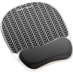Fellowes Photo Gel Mouse Pad Wrist Rest with Microban - Black Ch