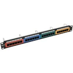 Tripp Lite 24-Port 1U Rack-Mount 110-Type Color-Coded Patch Panel, RJ